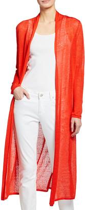 Eileen Fisher Petite Fine Organic Linen Crepe Maxi Cardigan