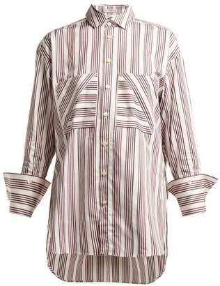 Palmer Harding Palmer//Harding Palmer//harding - Boyfriend Striped Cotton-poplin Shirt - Womens - Red White