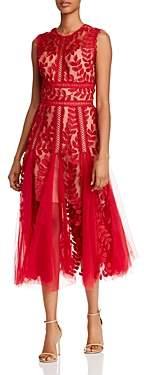 Bronx and Banco Saba Lace Midi Dress