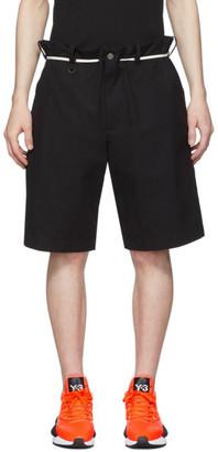 Y-3 Black Canvas Workwear Shorts