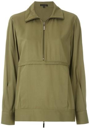 Alcaçuz Zip-Detail Sweatshirt