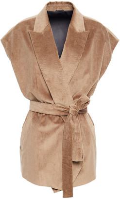 Brunello Cucinelli Bead-embellished Cotton And Cashmere-blend Corduroy Vest