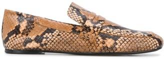 Joseph snakeskin-effect loafers