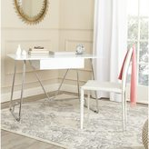 Safavieh Mid-Century Modern Malloy White/ Chrome Desk