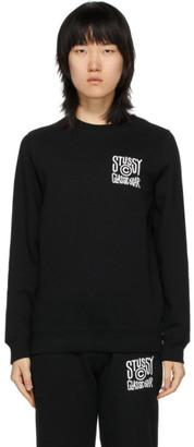 Stussy Black Classic Gear Crewneck Sweatshirt