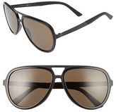 Gucci Men's '2274S' 59Mm Aviator Sunglasses - Matte Black