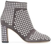 Christopher Kane studded ankle boots - women - Goat Suede/Leather/metal/rubber - 38.5