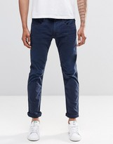Replay Anbass Slim Jeans in Blue Overdye