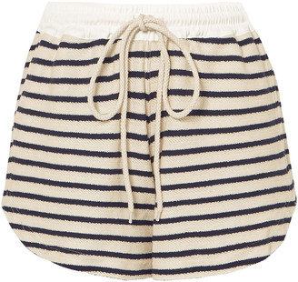 Bassike Striped French Cotton-terry Shorts
