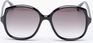 Celine Oversized Round Acetate Sunglasses - Black
