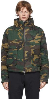 Rhude Green Camo Puffer Jacket