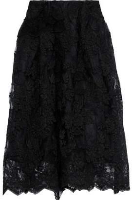 Simone Rocha Scalloped Lace Midi Skirt