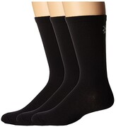 Smartwool Hiking Liner 3-Pair Pack (Black) Crew Cut Socks Shoes