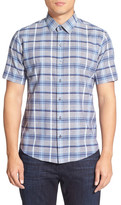 Zachary Prell &Marvin& Trim Fit Short Sleeve Check Sport Shirt
