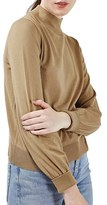 Topshop Women's Blouson Sleeve Mock Neck Sweater