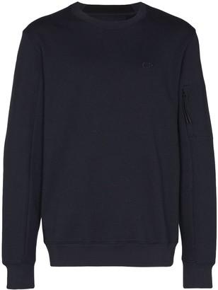 C.P. Company Cotton Embroidered-Logo Sweatshirt