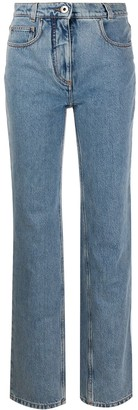 Salvatore Ferragamo High-Waist Straight-Fit Jeans