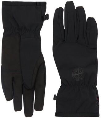 Stone Island Logo Soft Shell Gloves