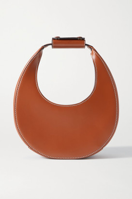 STAUD Moon Mini Leather Tote - Tan