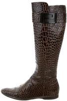 Versace Embossed Logo-Embellished Boots