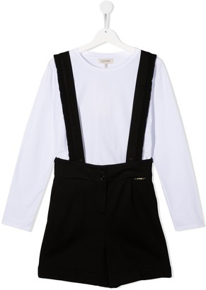 Twin-Set TEEN T-shirt and dungaree set