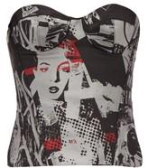 Marques Almeida Marques'almeida - Riot Girl Embroidered Brocade Corset - Womens - Black Multi