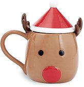 Mud Pie Holiday Reindeer Mug with Hat Lid