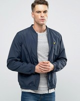 Lyle & Scott Nylon Bomber Jacket in Navy
