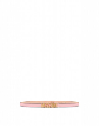 Moschino Belt With Mini Lettering Logo Woman Pink Size 48 It - (14 Us)
