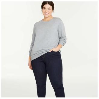Joe Fresh Women+ Cashmere-Blend Sweater, Light Purple Mix (Size 2X)