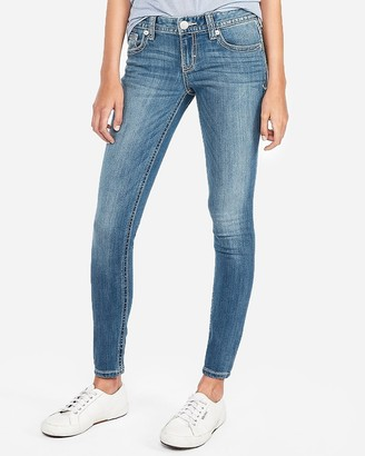 Express Low Rise Thick Stitch Jean Leggings