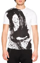 DSQUARED2 Paintbrush Graphic T-Shirt, White