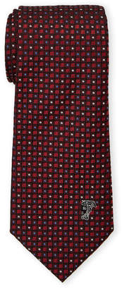 Versace Red Silk Multi Pattern Tie