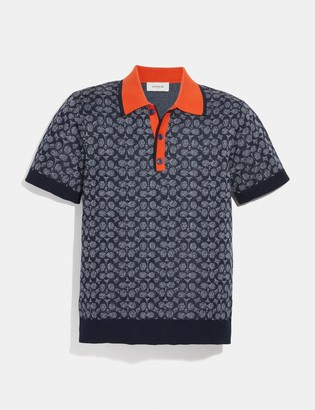 Coach Signature Knit Polo