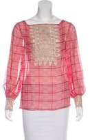 Temperley London Printed Embroidered Top