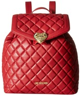 Love Moschino Quilted Knapsack Backpack Bags
