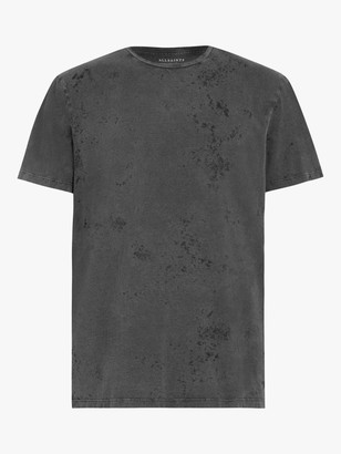 AllSaints Wyatt Short Sleeve Crew T-Shirt, Washed Black