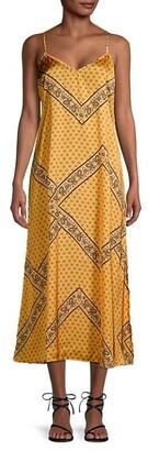 Betsey Johnson Bandana-Print Tie-Back Midi Dress