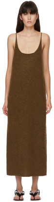 Arch The SSENSE Exclusive Brown Mohair Knit Tank Dress