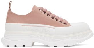 Alexander McQueen Pink Tread Slick Low Sneakers