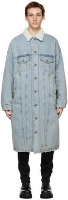 R 13 Blue Denim Lyle Trucker Coat