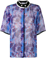 Carven band collar floral print shirt - women - Polyester - 36