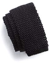 Todd Snyder Classic Silk Knit Tie in Black