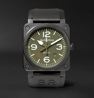 Bell & Ross Br 03-92 Military Type 42mm Ceramic And Rubber Watch, Ref. No. Br0392mil-Ce