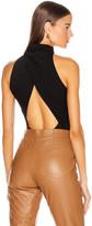 Cushnie High Neck Sleeveless Bodysuit in Black | FWRD