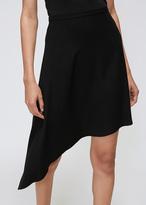 Lanvin Black Asymmetrical Short Skirt
