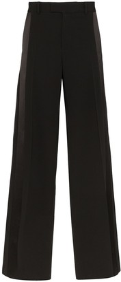 Bottega Veneta Side Stripe Wide-Leg Trousers