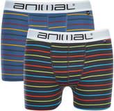 Animal Men's Allview 2 Pack Stripe Boxers - Multi