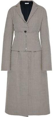 Jil Sander Belted Checked Wool Coat