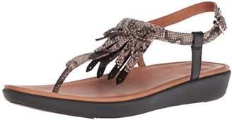 FitFlop Women's TIA Fringe Toe-Thong Sandals Flat